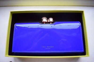6d4728669cfd Ted Baker 100% Authentic Kattia Crystal Pearl Bobble Matinee Purse Bright  Blue