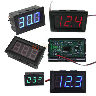 "0.56"" LED Digital DC 5V-30V/120V AC 70-500V 2/3 Wires Red/Green/Blue Voltmeter"