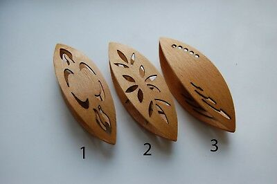 Large Wooden Tatting Shuttle Hand Made in Beech in Assortiment