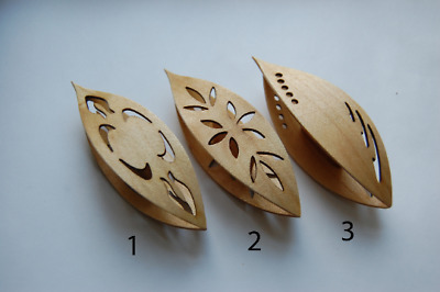 Large Wooden Tatting Shuttle With Pick Hand Made in Maple With Cut Outs