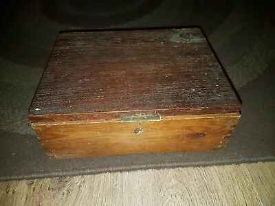 Antique/Vintage Old Wooden Box with secure 2 lever lock  project?
