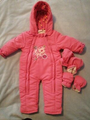 "Baby Girl ""Rock A Bye Baby""  Spring Snowsuit 6-12 M"