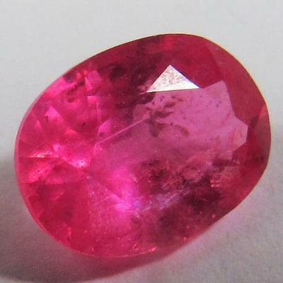 2.29 Ct - Wonderful Heated Natural Oval Cut Red Pink Ruby Mozambique