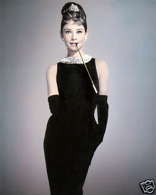 "AUDREY HEPBURN BREAKFAST AT TIFFANY'S 1961 ACTRESS 8x10"" HAND COLOR TINTED PHOTO"