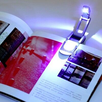 Robotic Flip Up Clip On LED Reading Book Light Torch Lamp Travel Leisure