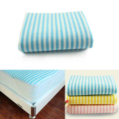Waterproof Terry Towel Reusable Washable Incontinence Bed Pad Underpad M L