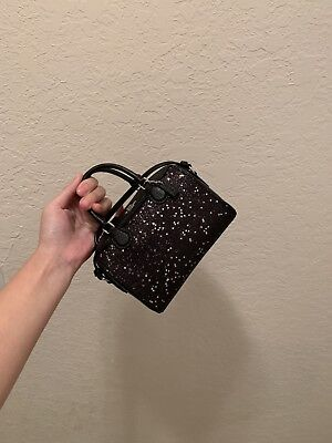 c5ccdbfe0c8ee NWT COACH F37747 Micro Bennett Satchel With Star Glitter in Black ...