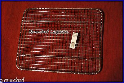 """Pan Grate w/ built in feet  ~  8"""" x 10"""" ~ 4 Roasting Meat ~  Used by Chefs ~ New"""