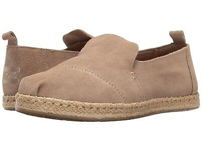 4ebf13f16d3 Toms DECONSTRUCTED ALPARGATA Womens Desert Taupe 10009837 Suede Flats Shoes