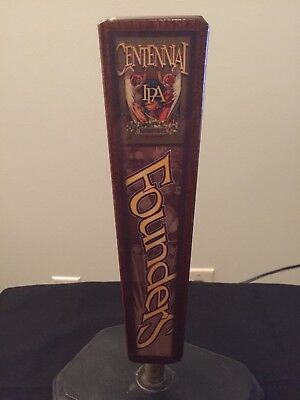 FOUNDERS BREWING Co MI ~ Centennial IPA ~ Beer Tap Handle 3 Sided B