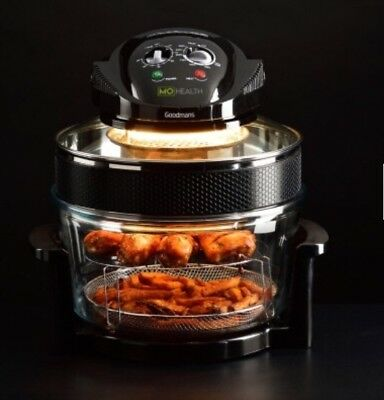Mo Farah Health Low Fat Air Fryer 17L Oven Cooker Including Free Recipe Book