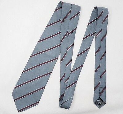 GIANFRANCO FERRE tie grey wine red striped classic silk Ferré