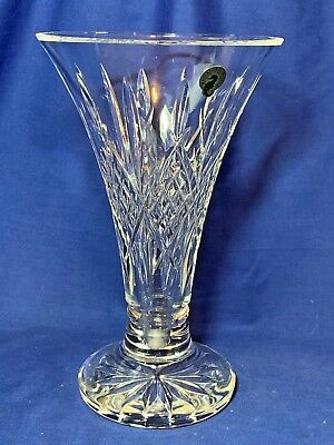 Waterford Crystal Ardmore pattern tall footed floral vase