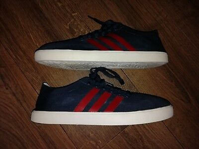 Mens ADIDAS NEO Canvas Trainers Blue And Red U.K. Size 8/EUR 42