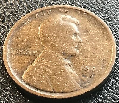 1909 S Wheat Penny Lincoln Cent 1c RARE Key Date San Francisco #14174
