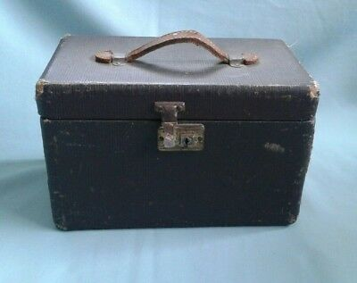 Vintage Wooden Art/Storage Box with Leather Handle, & WORKING LATCH.
