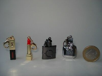 YSL  beaute VIP gift charm set  4  pendants with  lobster clasp  lock