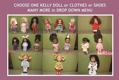 PICK ONE LOT ~ 2-16 pc MATTEL KELLY & FRIENDS DOLL CLOTHES SHOES ~ Barbie Sister