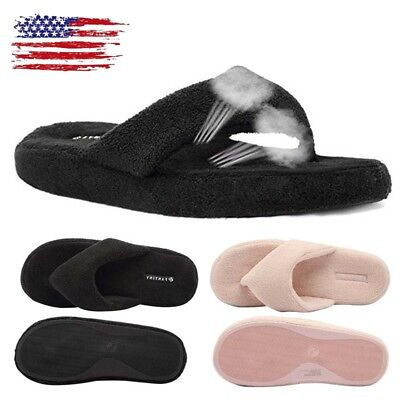 31aa010ef Womens Fur Furry Slippers Sandals Winter Flip Flops Home Indoor Shoes  Nonslip US