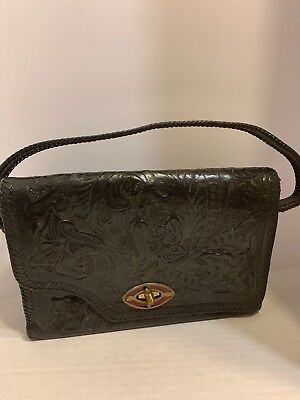 ddc54a53062 Carolina Herrera Authentic Wallet.  10.00 0 Bids 2d 15h. See Details.  Vintage Hand Tooled Leather Purse Bag Black Buckle Closure