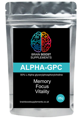 Alpha 25g GPC - Powder - Acetylcholine - Choline booster - Cognition Memory