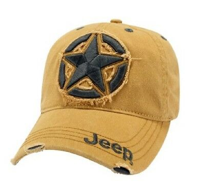 Jeep Distressed Style Hat Cap Yellow Wrangler Compass Grand Cherokee Renegade