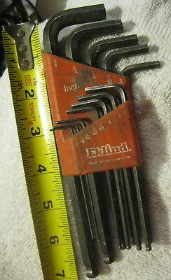 NEW EKLIND 13213 12 PC BALL END SAE ALLEN HEX KEY WRENCH SET USA MADE SALE