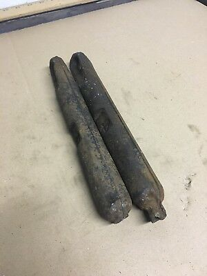LOT 2 Two Vintage Antique Window Sash Cast Iron Weights Weight 4 pound 11 Inch