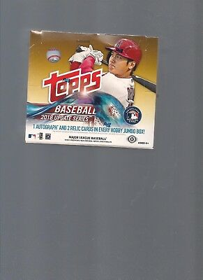2018 Topps Update Factory Sealed Hobby Jumbo Box, Ohtani, Torres,1 Auto&2 Relics