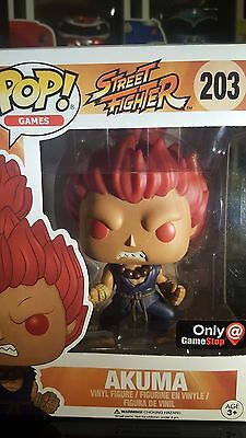 Funko Pop Street Fighter AKUMA #203 GameStop Exclusive ~ SOLD OUT & HTF