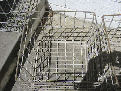 Vintage Metal Milk Bottle Crate Approx 33.5cm X 33.5cm X 29.5