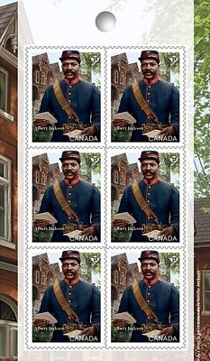 ALBERT JACKSON = BLACK HISTORY = Block of 6 on Booklet page = MNH-VF Canada 2019