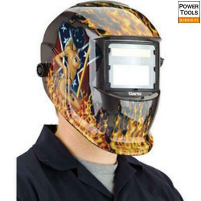Clarke GWH5 Woman Design Arc Activated Solar Powered Grinding/Welding Headshield