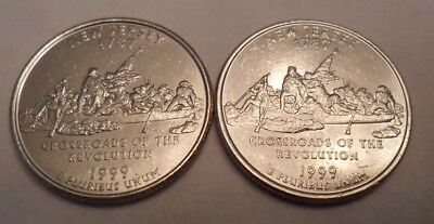 1999 P & D New Jersey Quarter Coin Set (2 Coins)  **FREE SHIPPING**