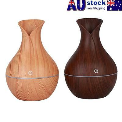 Easehold Oil Ultrasonic Humidifier Aroma LED Aromatherapy Diffuser Purifier Wood