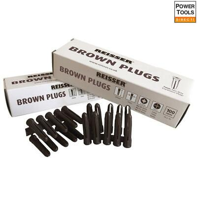 RT47131 7 x 35mm Brown Wall Plugs 100 Pack