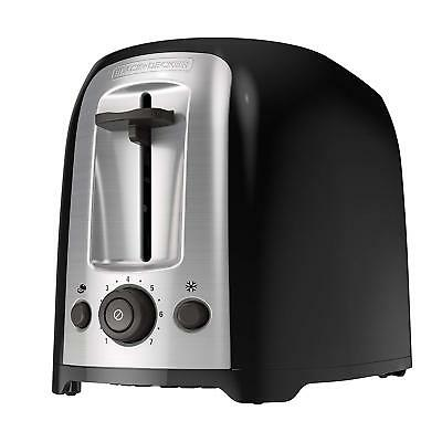 2-Slice Extra Wide Slot Toaster Classic Oval, Black with Stainless Steel Accents