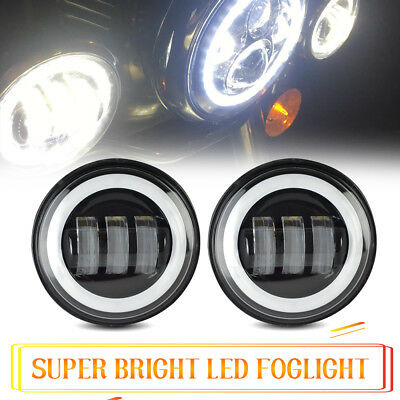 "4-1/2"" 4.5Inch LED Fog Lights for Harley Davidson Passing Lamps Driving 2X"