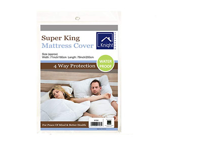 High Quality Waterproof Fitted Mattress Protector Cover Sheet, Super King