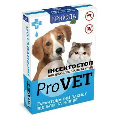 Adult Cats and dogs Provet Spot On Flea & Tick Treatment for 6 pipettes - 0.8 ml