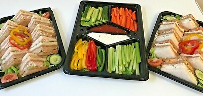 Catering Trays - 4 x Buffet Platter Trays 1 x Dip Platter Tray with Lids