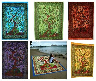 The Life of Tree Indian Mandala Cotton Wall Hanging Tapestry Bohemian Room Decor