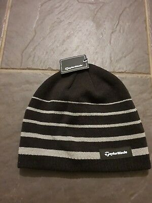 TAYLORMADE 2019 THERMAL Fleece Stripe Beanie Knitted Mens Golf Hat ... 8bafe43e2a4f