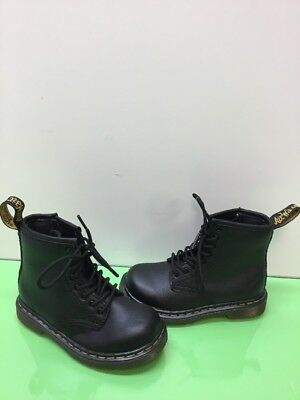 686f4661e6acf Dr. Martens BROOKLEE Black Leather Lace Up/Side Zip Boots Toddler Size 8