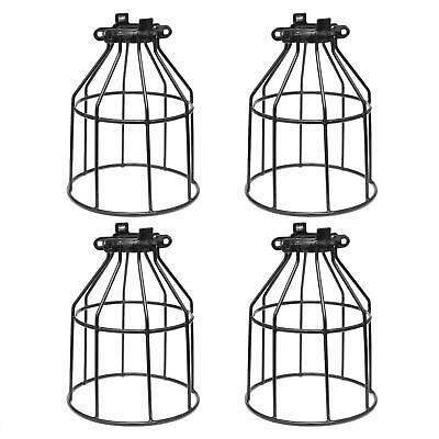 Supmart Metal Bulb Guard, Clamp On Steel Lamp Cage for Hanging Pendant Lights an