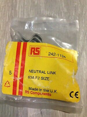 5x RS Neutral Links 63A F2 Size