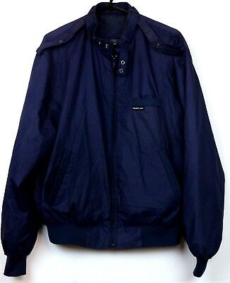 Vintage Men's Members Only Jacket Coat Made in USA Size 42 Large Navy Blue