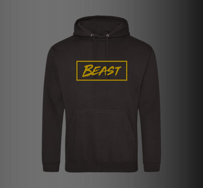 Mr Beast Hoody Youtuber Beast Hoodie Pullover Kids Adults UNISEX Black GOLD