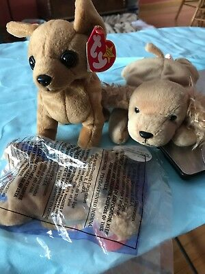 24024d580ae RETIRED TY SPUNKY Beanie Baby 1997 And Tiny ty Baby - Mint With ...