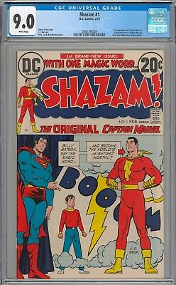 Shazam! #1 CGC 9.0 VF/NM 1st Appearance of Shazam Since Golden Age WHITE PAGES